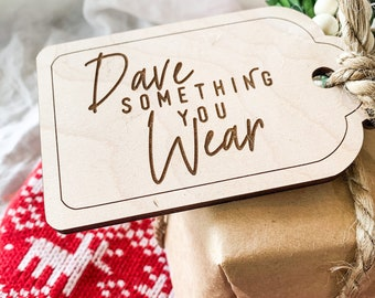 Want Need Wear Read Personalized Wood Gift Tags - Wooden Christmas Tag - Christmas Wrapping Accessories - Custom Gift Tags