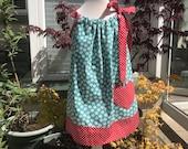 Girls dress, Cotton dress, Classic dress, Childrens clothing, kids fashion, Handmade, Green flower dress, Summer dress, Spring dress,