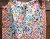 Girls dress, Cotton dress, Classic dress, Children clothing, Kids fashion,Handmade, Peach deer dress, Summer dress, Spring dress,