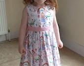 Girls dress, Princess dress, Unicorn dress, Cotton dress, Classic dress, Children clothing, Kids fashion, Handmade,Summer dress,Spring dress