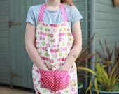 Children's  Aprons, Childrens Clothing, Cooking Apron, Baking Aprons, Girls Apron,Pink Apron,Messy Play, Girls Brithday Present,