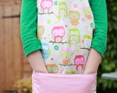 Childrens Aprons, Girls Apron, Cooking Aprons, Pink Apron, Girls Birthday Present, Messy Play, Baking Apron,Children Clothing