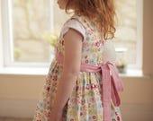 Girls dress, Cotton dress, Classic dress, Childrens clothing, Kids fashion, Handmade, Pink elephant dress, Summer dress, Spring dress,