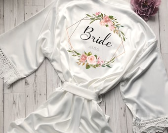 Bridesmaid Robe Personalised Wedding Robe Lace Bride Dressing Gown  Bridesmaid Robe Wedding Gift Bridesmaid Gift 1e8dedd4d