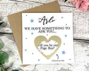Will You Be Our Page Boy Surprise Scratch Card - Page Boy Card - Wedding Cards