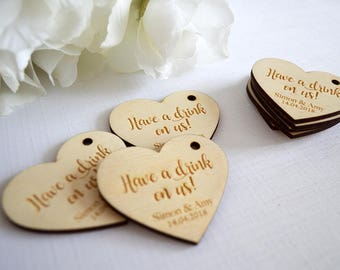 Personalised Wedding Favour Tags, Wedding Favors, Wedding Decor, Wedding Table, Name Places, Thank You Tags, Rustic Wedding