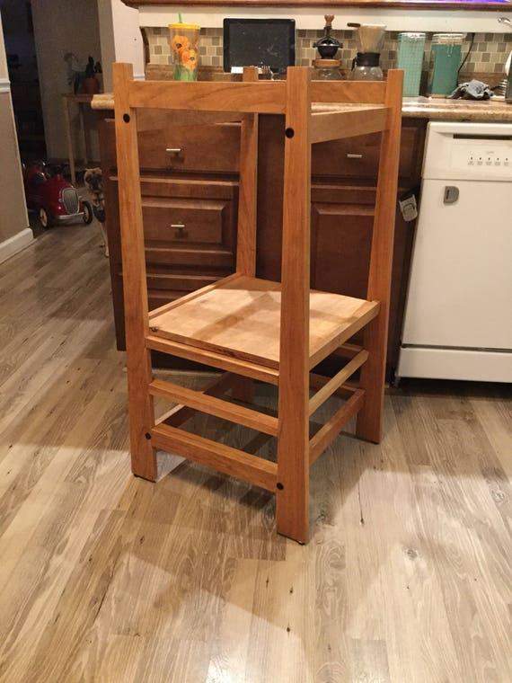 Kids safety stool kitchen helper   Etsy