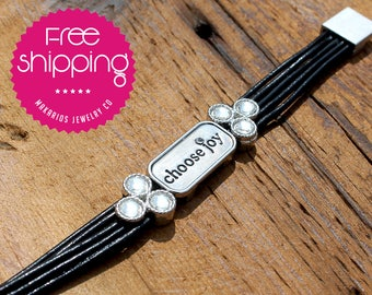 Choose Joy bracelet.inspiration jewelry.hand stamped.motivational jewelry.joy jewelry.happiness jewelry.inspire quote (Choose Joy Bracelet)