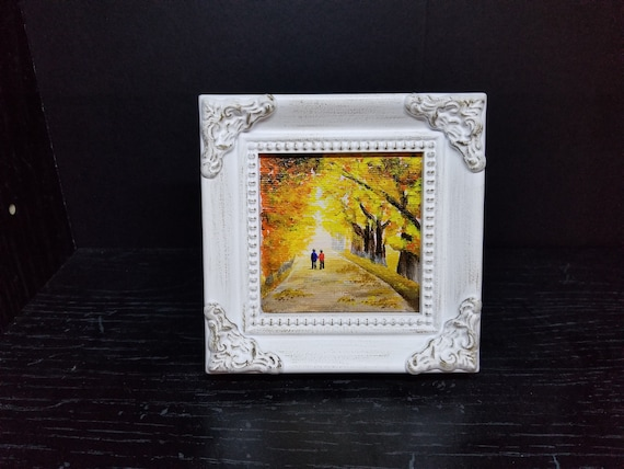 Life Is Good With You Miniature Acrylic Painting With Frame Etsy