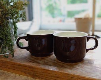 Vintage diner mugs (set of 2)