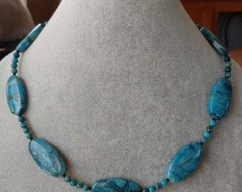 Blue Crazy Lace Agate Necklace