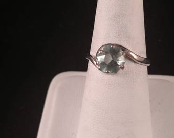 Aquamarine Sterling Silver Ring