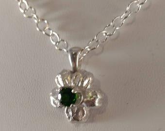 Green Apatite Silver Necklace