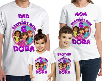 Dora And Friends Into The City Shirt Custom Name Age Personalized Birthday Party