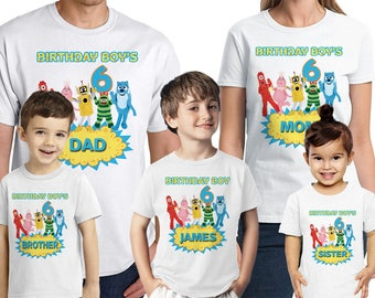 Yo Gabba Birthday Shirt Customized Name And Age Personalized Party Favors Family Shirts