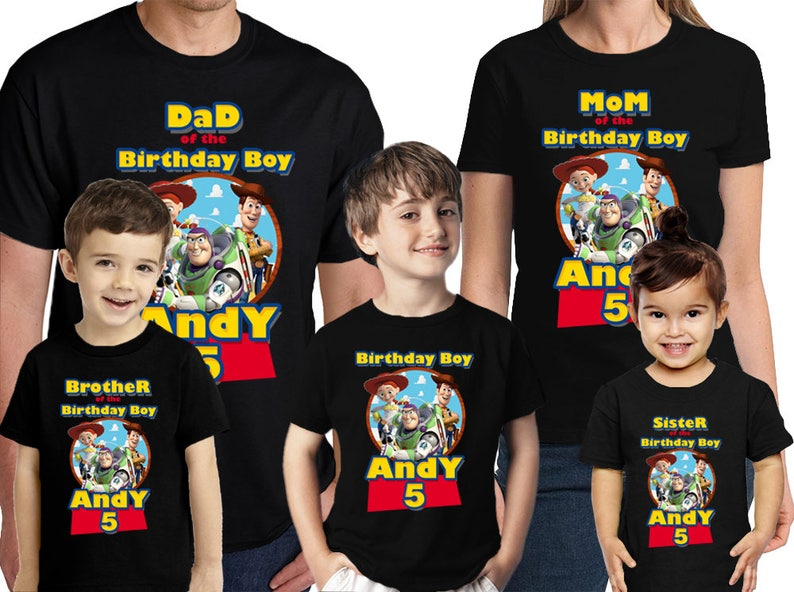 Toy Story Birthday Shirt Customized Name And Age Personalized
