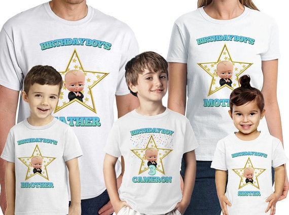 4f653268a07b7 Boss Baby Birthday Shirt Personalized Name and Age Custom Boss