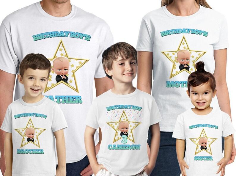 7b1e3cc81 Boss Baby Birthday Shirt Personalized Name and Age Custom Boss   Etsy