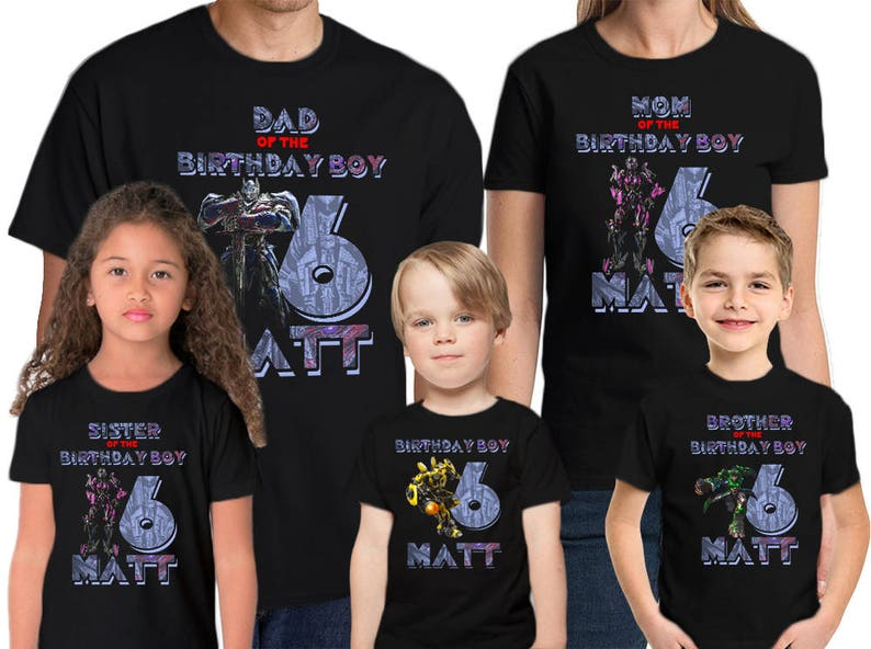 Transformers Birthday Shirt Customized Name And Age