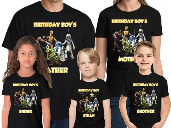 Star Wars Shirt Personalized Name and Age Birthday Shirt