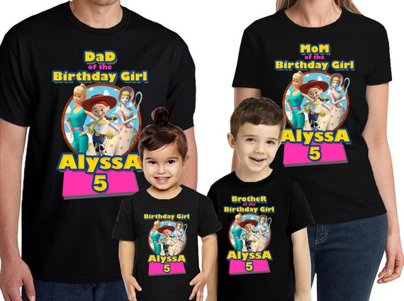 Toy Story Birthday Shirt Personalized Name And Age Customized