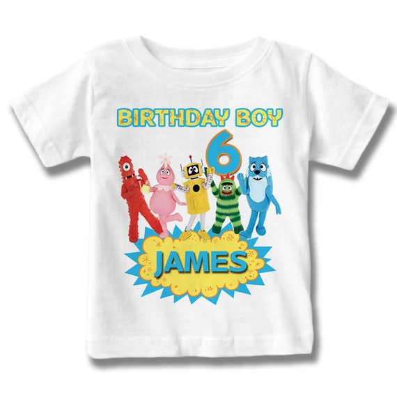 Yo Gabba Gabba cumpleaños camiseta modificada para requisitos | Etsy