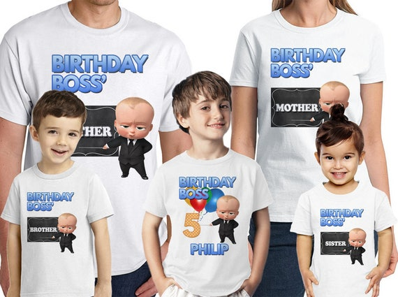 b0e8d183 Boss Baby Birthday Shirt Personalized Name and Age Boss Baby | Etsy