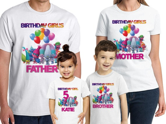 Trolls Birthday Shirt Personalized Name And Age