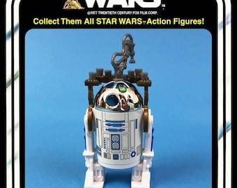 4x Star Wars Badges Pins Darth Vader Stormtrooper Star Wars LOGO /& R2 D2 NEW