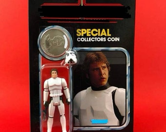 IN STOCK Vintage Style Custom Figure Scruffy Space Cadet on Cardback with coin