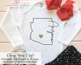 Baby Onesie Phoenix Arizona Pregnancy Announcement We/'re Pregnant Population +1 AZ Baby I/'m Expecting Onsie Newest Resident Tempe.