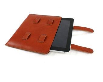 iPad Sleeve Italian vegetable tanned leather