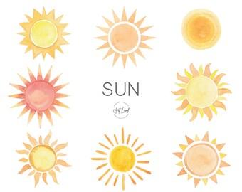 Sun Clipart Etsy