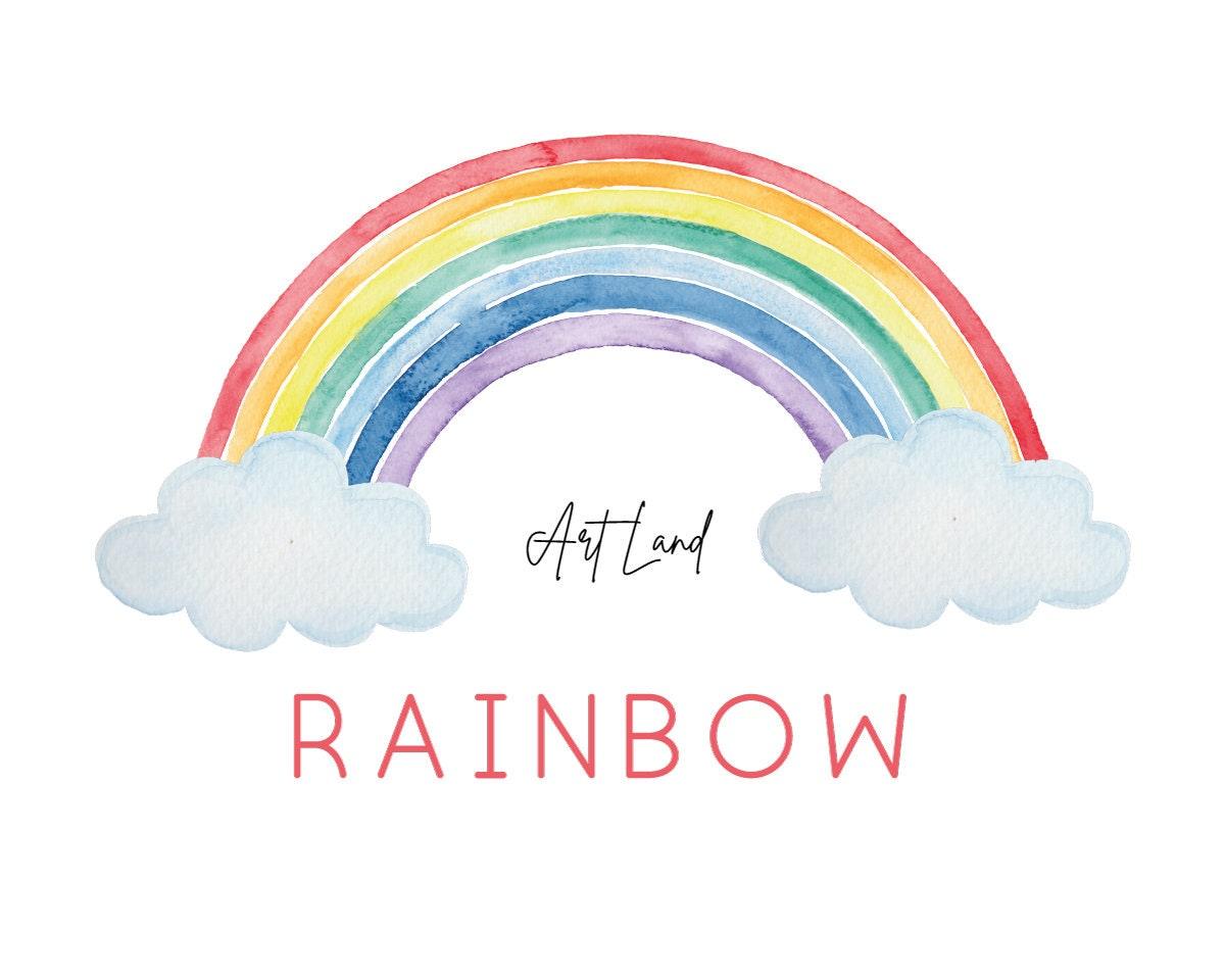 Watercolor Rainbow Umbrella Star watercolor clipart Digital Images Clipart Cloud Sun Painted Watercolor image Digital