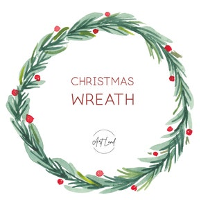 Planner Stickers,DIY Holiday clipart Mistletoe Christmas wreath Watercolor Christmas Digital Clip Art 60/% OFF SALE Briar Winter Birds