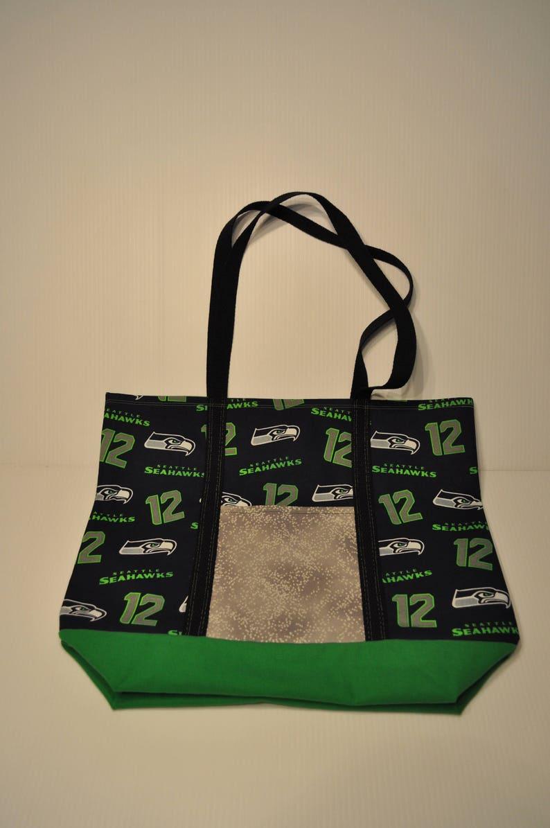 the latest 4cecc 5fa7e Seattle Seahawks Market Grocery Shopping Tote Bag