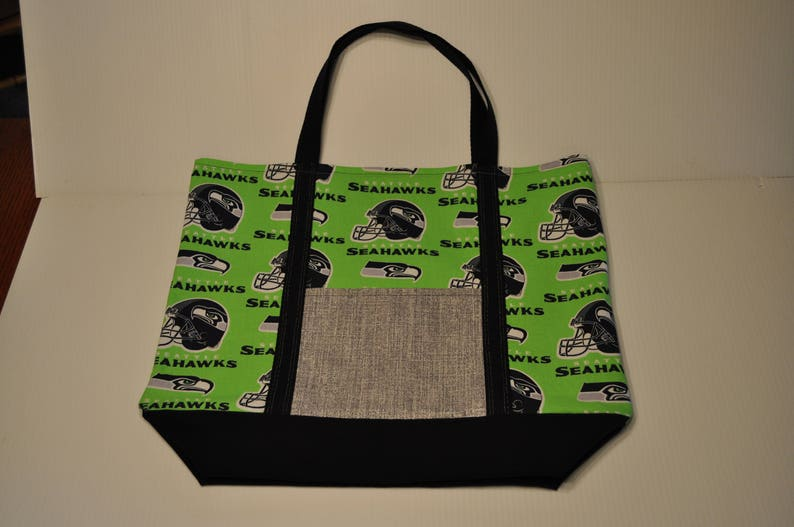 the latest 555aa 2f4e0 Seattle Seahawks Market Grocery Shopping Tote Bag