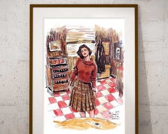 Twin Peaks Art Print - Audrey's dance