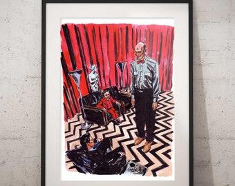 Twin Peaks Art Print - The Black Lodge - the Waiting Room
