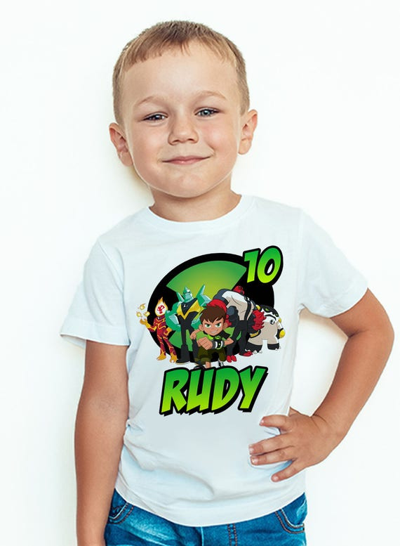Ben10 Birthday T Shirt Custom Name And Age Ben 10