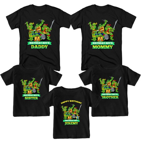 Teenage Mutant Ninja Turtles Birthday Shirt Name and Age Customized TMNT Shirt