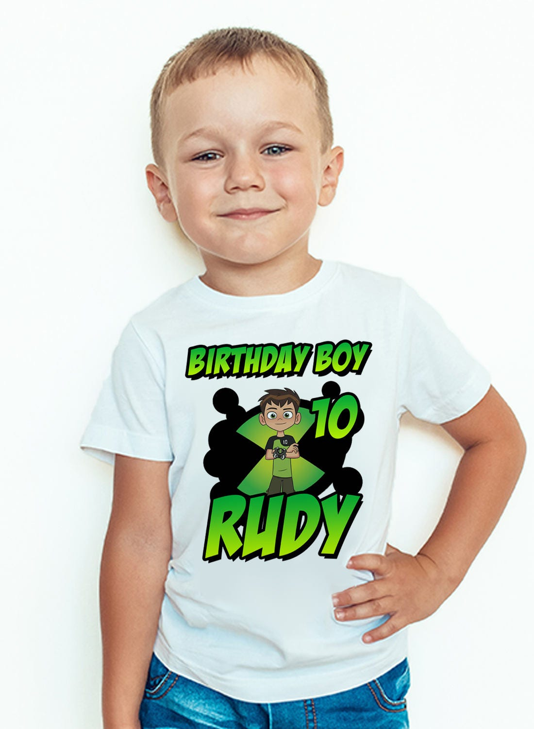 Personalized Ben 10 Birthday T Shirt Custom Name And Age