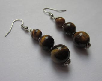 "Earrings Tiger eye ""Protection and serenity"""