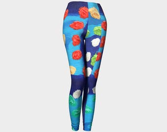 Big Dots Ladies Leggings. These are bold and funky and will make the other girls jealous. From Douglas...:)