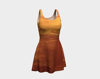 This earthy tone dress is just right for and adventure this spring. Not to different. Just very pretty!
