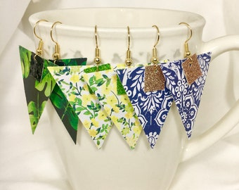 Tropical Triangle Earrings