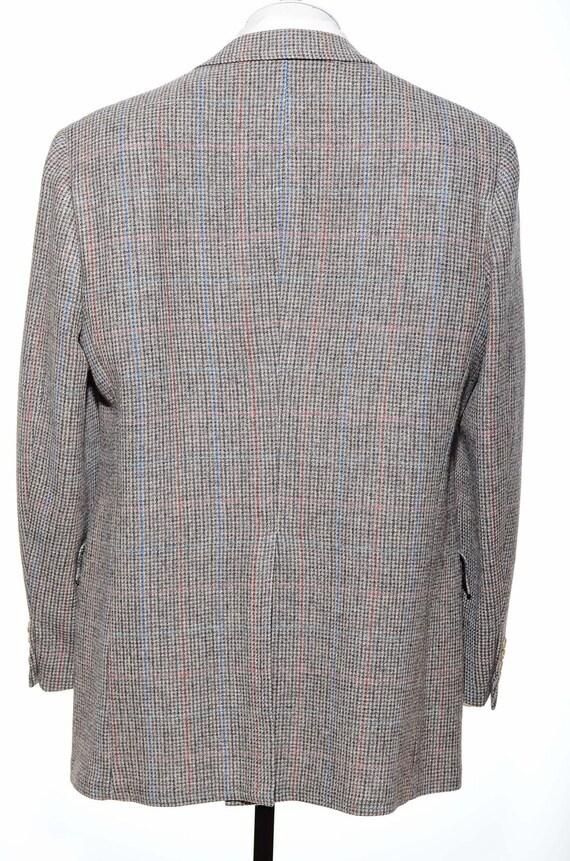 42L Vintage Austin gris Reed carreaux gris Austin laine TWEED taille L deux-bouton Sport manteau Blazer Veste longue 812ac0
