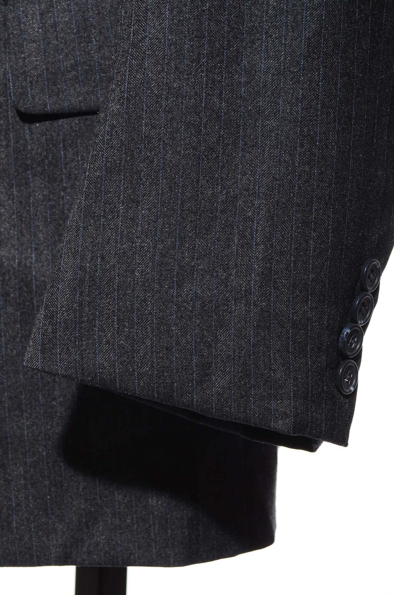 40L Hickey Freeman Canterbury Collection Gray Wool Herringbone Sport Coat Blazer Jacket Tall Long Size M