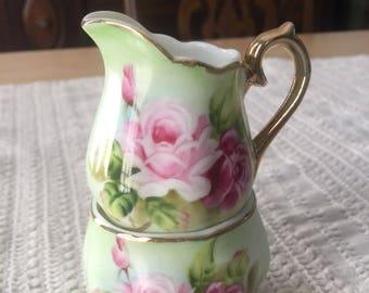 Porcelain Creamer & Sugar Set