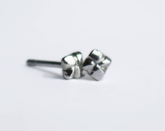 Earrings, Silver Stella Studs, handmade jewelry